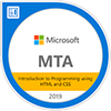 MTA Certification Logo for Introduction to Programming using HTML and CSS